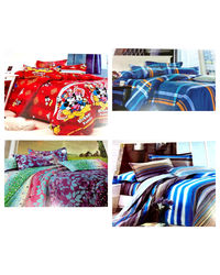 Crimson Bliss - Pack of 4 bedsheets, multicolor