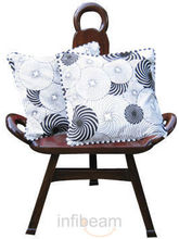 Swirls Of Happiness Cushion Covers - Set Of 2 Pcs (Multicolor)