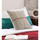 Rang Desi Multicolor Cotton 16 x 16 Inch Floral Cushion Cover, multicolor