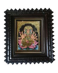 "Tanjore painting-Balaji 12"" x 10"", multicolor"