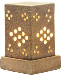 Brahmz Aroma Oil Burner Electric Square ( Round Cutting), mustard