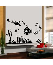 Creative Width Under Water World 3 Wall Decal, Multicolor, Small