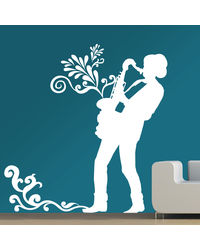 Creative Width Street Music Wall Decal, multicolor, large