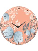 Soothing Pattern Wall Clock, pink