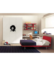 Jimi Hendrix - Wall Sticker, Multicolor