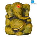 ExclusiveLane Terracotta Handpainted Yellow Ganesha, antiqoue yellow
