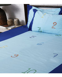 Lullabies Number and Counting Emroidery bedsheet for kids LLB23, multicolor