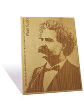 Engrave Mark Twain Plaque (Multicolor)