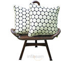 Cream N Polka Design Cushion Covers - Set Of 2 Pcs (Multicolor)