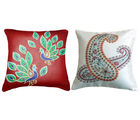 Belkado Digital Print-Combo of 'Ethnic Design I' Cushion Covers, multicolor