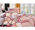 Valtellina Waves Print Double Bed Sheet, gray
