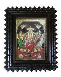 "Tanjore painting-Balaji 10"" x 8"", multicolor"