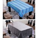 Freely Cotton Table Cover With Transprant Table Cover For 4 Seaters ( Buy 1 Get 1), multicolor