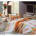 Story King Size Orange Having Cross Line Double Bed sheet EW1090, multicolor