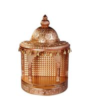 Cipla Plast Home Temple/Mandir (Wooden Finish) - Big, Gold