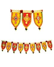 Red And Yellow Traditional DoorHanging Bandanwar Toran, Multicolor