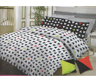 Bombay Dyeing Neon Dots King Size Bed Sheet with 2 Cushion Covers - N-6767, multicolor