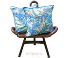 Blue Autumn Cushion Covers - Set Of 2 Pcs (Multicolor)