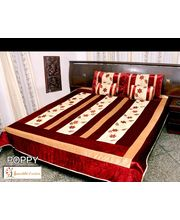 5 Pcs Bed Cover Set - Poppy Design, multicolor