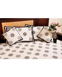 Banana Prints Set of Five Rangrez Flower Bed Sheet - BS_ 3016, multicolor