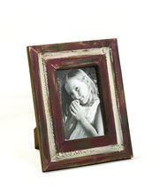 Aapno Rajasthan Red Rustic Finish Wooden Photo Frame