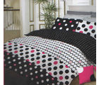 Bombay Dyeing Neon Multi Dots King Size Bed Sheet with 2 Cushion Covers - N-6761, multicolor