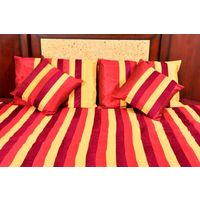 Banana Prints Set of Five Street Bed Cover - BC_ 3010, multicolor