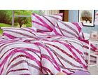 Valtellina Wondrful Strips Print Double Bed Sheet, grey