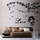 Creative Width Love Parrots Wall Decal, multicolor, medium