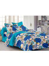 Story At Home Blue 100% Cotton Fantasy 1 Single Bedsheet with 1 Pillow Cover, design 1