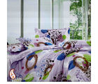 Geometric Print Multicolour Pure Cotton Bed Sheet Set BS139110, multicolor