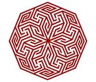Chipakk Delicate Motif 1- SH5BM, red, medium