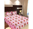 Story At Home 144 TC Pure Cotton Double Bedsheet With 2 Pillow Cover, pink