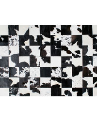 SWHF Large Leather Rug Patch Work, black and white