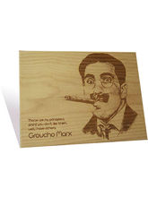Engrave Groucho Marx Plaque (Multicolor)