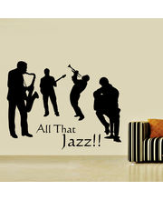 Creative Width All That Jazz Wall Decal, Multicolor, Small