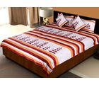 Little India Exclusive 5 Piece Silk Bedlinen Cushion Pillow Covers Set 413, maroon