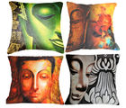 Belkado Digital Print- 'Indian Saints' Set of 4 Cushion Covers, multicolor