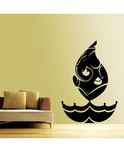 Creative Width Ganesha In Flame Wall Decal, Multicolor, Small