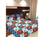 Story At Home Pure Cotton Double Bedsheet With 2 Pillow Cover, cream