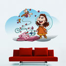 Creative Width Pleasure Of Reading Wall Decal, multicolor, small