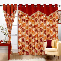 Cortina Supreme Drape 7Ft Curtain, mustard