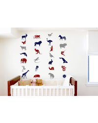 Animal Alphabets - Wall Stickers, multicolor
