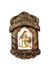 Creativity Centre Photoframe (Jharokha) In Rajasthani Art Style, Multicolor