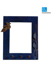 ExclusiveLane Inlay Bird And Leaf Blocks Key Holder With Mirror (Multicolor)