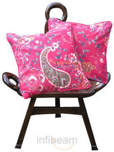 Paisley Traditions Cushion Covers - Set Of 2 Pcs (Pink)