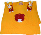 Handloomwala Rabbit Pillow Desgien Yellow Baby Quilt Set (Yellow)