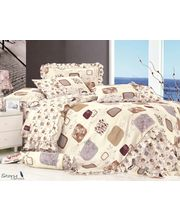 Story Cool Single Bed Sheet with 1 Pillow cover SP1001, multicolor