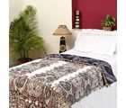 Paisley-Inspired Design Quilted Soft Cotton Razai JR1313SNG, multicolor