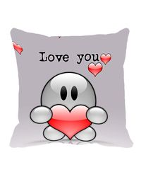 meSleep Valentine Cushion Cover,  grey